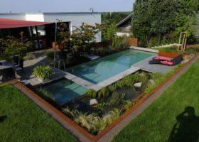 Exklusive Gartengestaltung mit Biopool in Ennigerloh
