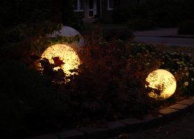 Moonlights im Staudenbeet schafft interessante Silhouetten