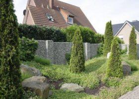 Gabionen mit Landschaftsgestaltung in Ahlen