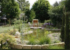 Teiche, Springbrunnen und Wasserläufe