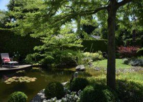 lauschiger Gartenteich in Oelde