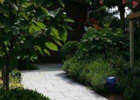 Gartenweg mit üppiger Randbepflanzung