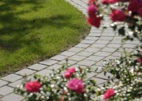 Elegant geschwungener Gartenweg Warendorf